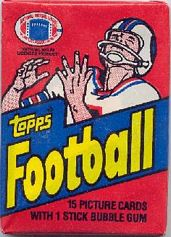 1982 Topps football card wrapper