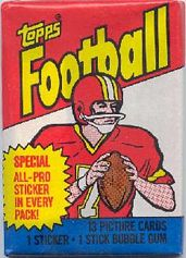 1983 Topps football card wrapper