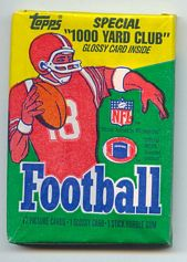 1986 Topps football card wrapper